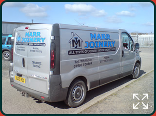 Vehicle Livery for Marr Joinery Van